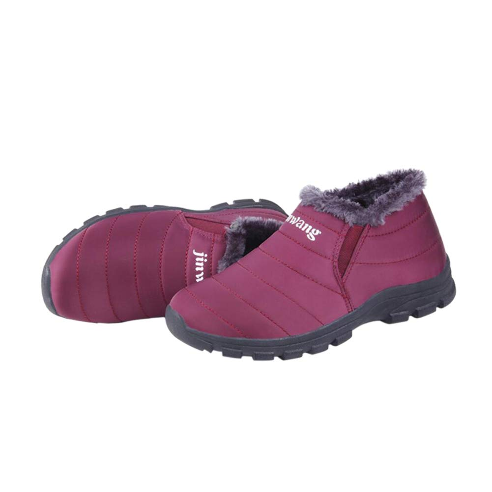 Janjunsi Womens Mens Snow Boots - Warm Winter Boots Fully Fur Lined Ankle  Short Boots Anti-Slip Shoes Outdoor Sneakers Size 3.5-9.5 AU cd0f2e054