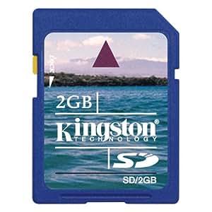Kingston Technology 2GB SD Card 2GB SD memoria flash - Tarjeta de memoria (SD, Azul, -25 - 85 °C, -40 - 80 °C, 24 x 32 x 2,1 mm, 9-pin SecureDigital (SD))