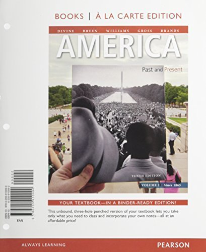 America past and present volume 2 10th edition