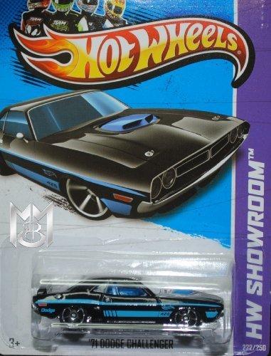Hot Wheels 2013 '71 Dodge Challenger nero blu HW Showroom 222 250 by Mattel (English Manual)