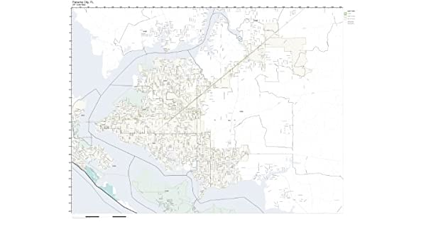 Amazon Com Zip Code Wall Map Of Panama City Fl Zip Code