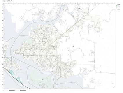 Panama City Fl Zip Code Map.Amazon Com Zip Code Wall Map Of Panama City Fl Zip Code Map
