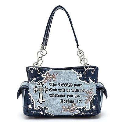Western Handbag - Bible Verse Joshua 1:9 Shoulderbag