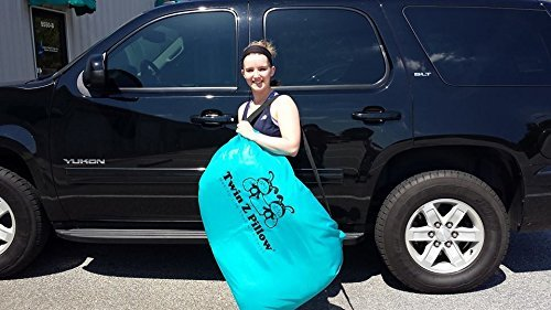 Twin Z Pillow + 1 Grey cuddle cover + FREE Travel Bag! by Twin Z PIllow (Image #3)