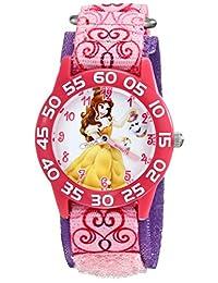 Disney Kid's W001672 Belle Analog Display Quartz Pink Watch