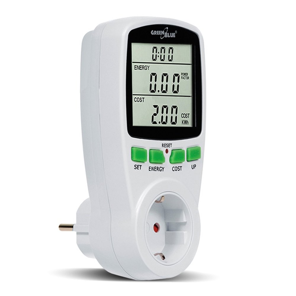 GreenBlue GB202G - Wattmeter Energy Consumption Meter, White, GB202G