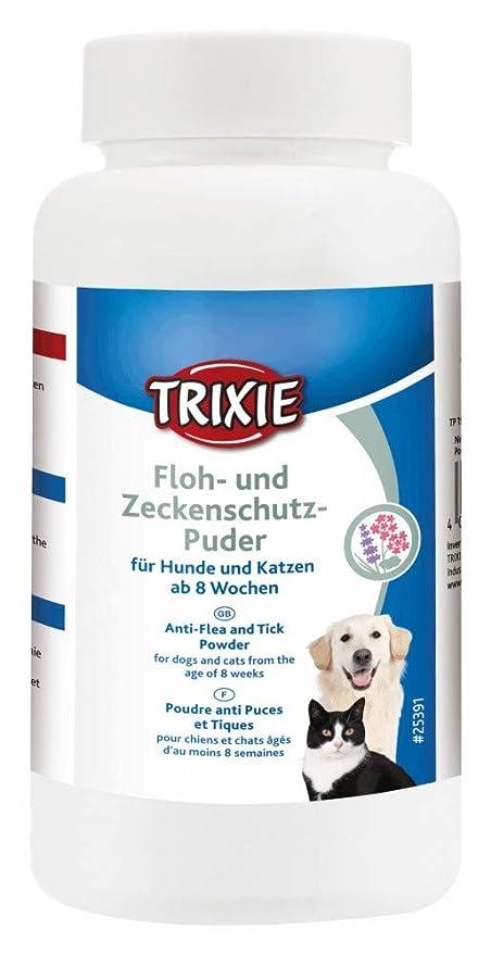Trixie 25391 - Polvo antipulgas y garrapatas para Gatos y Perros (150 g)