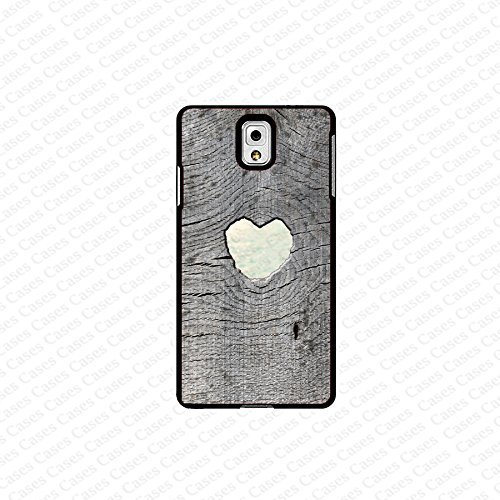 krezy case Galaxy Note 4 case- gray wood with heart (not a real wood) samsung Galaxy Note 4 case- Cute Note Case...