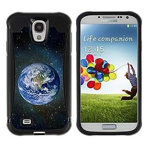LASTONE PHONE CASE / Suave Silicona Caso Carcasa de Caucho Funda para Samsung Galaxy S4 I9500 / Planet Earth Space Photo
