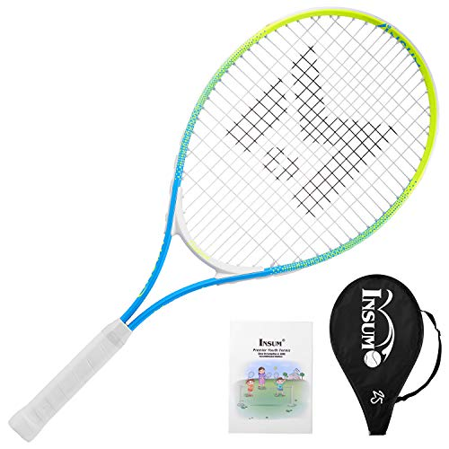 Insum Junior Tennis Racquet 25″ Beginner Kids Starter (Ages 9-10) with Shoulder Strap Cover Bag