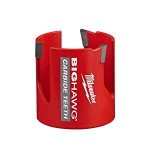 Milwaukee 49-56-9295 BIG HAWG Carbide Hole Saw (2-1/8, 2-9/16, 3, 3-5/8, 4-5/8 Inches) Kit (9-Piece) with PACKOUT Case (Color: Red, Tamaño: 2-1/8 ,2-9/16, 3, 3-5/8, 4-5/8 Inches)
