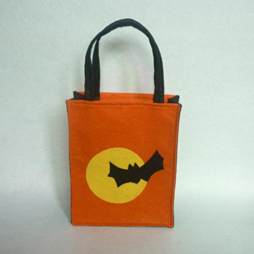 Jili Online Pieces of 6 Non-woven Fabric Mixed Style Halloween Holiday Trick or Treat Loot Tote Bags with Handle Home Party Gift Bags by Jili Online (Image #4)