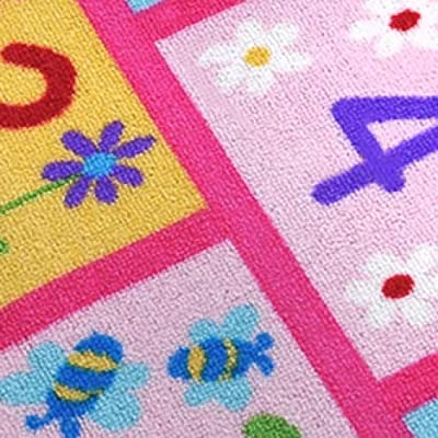 HUAHOO Pink Girls Rug Pink Kids Rug hopscotch Rug Children's Rugs Baby Nursery Rugs Kids Rugs Carpet Girls Bedroom Playroom Play Mat School Classroom Learning Carpet Educational Rug (31.5''x47''): Kitchen & Dining
