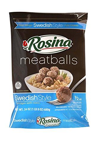 Rosina Swedish Meatballs, 24 oz., (8 per case) (Best Frozen Swedish Meatballs)
