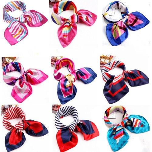 UZZO Colorful neckerchief Silk Like Randomly