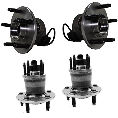 Detroit Axle - 5 Lug Front Rear Wheel Bearing and Hub Assembly Set for 06-11 Chevy HHR Non SS - [2005-2010 Cobalt Non SS] - 2007-2010 Pontiac G5 - [2005-2006 Pursuit] - 2004-2007 Ion Redline Only from Detroit Axle