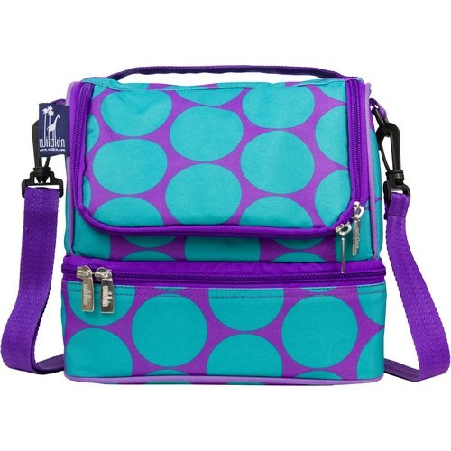 Wildkin Double Decker Lunch Bag - Big Dots Aqua