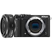 Nikon 1 J5 Mirrorless Digital Camera with 1 NIKKOR 10mm f/2.8 Lens (Black) (International Model) No Warranty