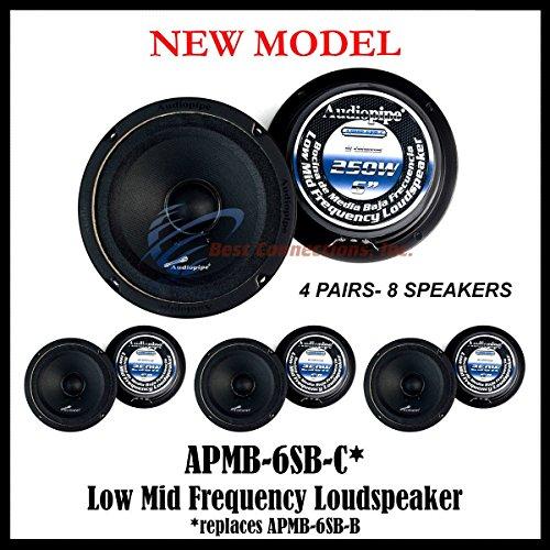 Low Frequency Loudspeaker - (8) AUDIOPIPE APMB-6SB-C SEALED BACK 6.5