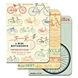 Cavallini Papers 4 by 5.5-Inch Notebooks, Mini, Bicycles, Set of 3