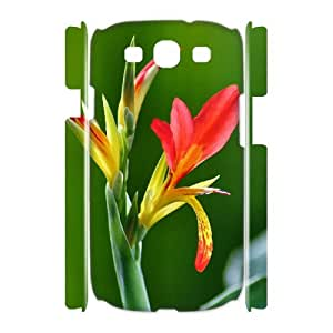 CHSY CASE DIY Design Bright Color Flower 1 Pattern Phone Case For Samsung Galaxy S3 I9300