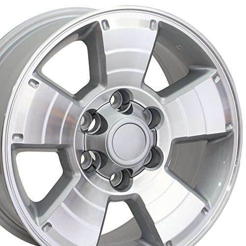 OE Wheels 17 Inch Fits Toyota Tacoma Sequoia FJ Cruiser Tundra 4Runner Lexus GX HL450 4Runner Style TY09 Silver Machined 17x7.5 Rim Hollander 69429