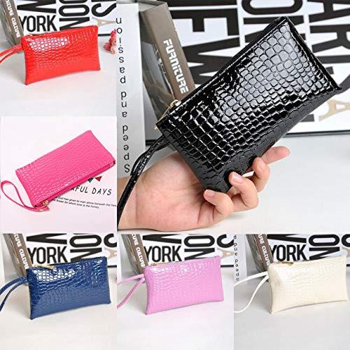 ❤️Sunbona Card Holder Wallet for Women Crocodile Leather Clutch Handbag Bag Coin Purse Card Holder Crossbody Bags (Black) by Sunbona (TM) (Image #1)
