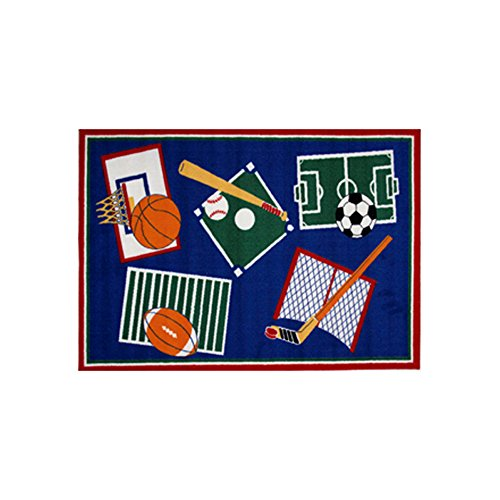 Fun Rugs Fun Time Collection Home Kids Room Decorative Floor Area Rug Sports A Rama -39