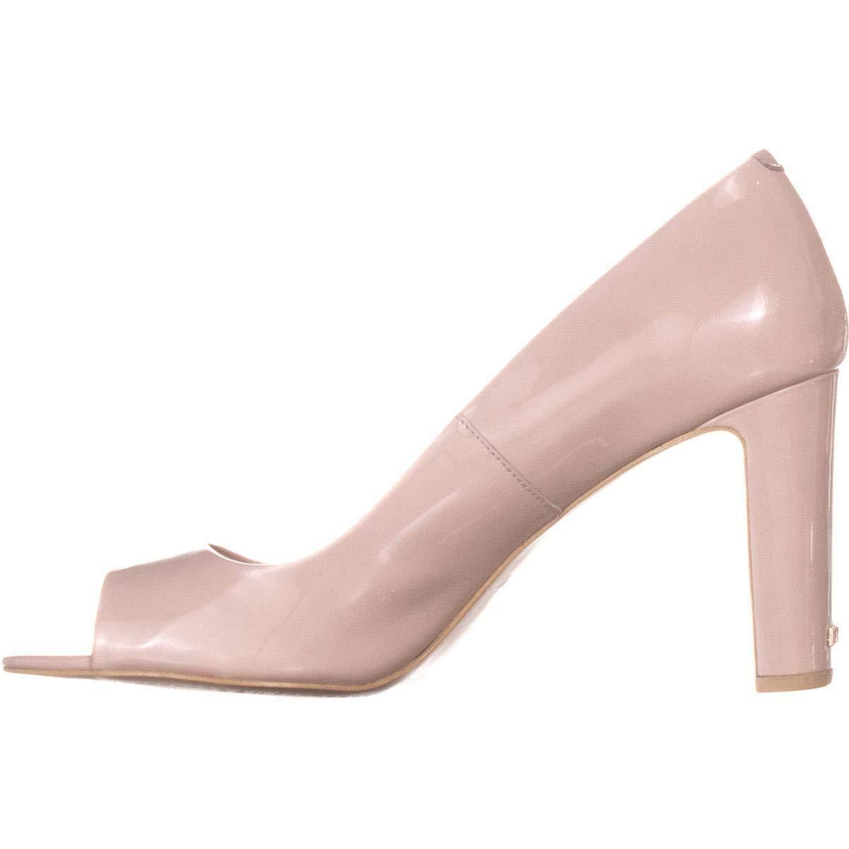 Pinky Nuke DKNY Jade Peep Toe Heels, White