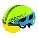 Cheap NUCKILY Multi Color Cycling Helmet CE Safety Standard Protection For Outdoor Sports Light Green