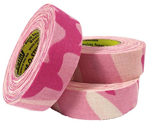 3 Rolls of Comp-O-Stik Pink Camouflage Hockey Lacrosse Bat Stick Tape ATHLETIC TAPE (3 Pack) Made In The U.S.A. 1'' X 60' by Comp-O-Stik