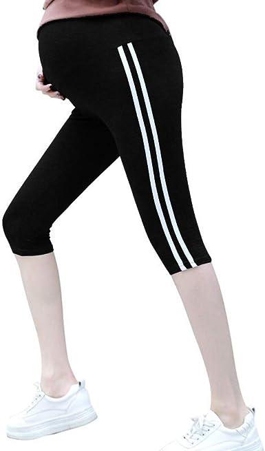 Pantalones Cortos Embarazada Cintura Alta Maternidad Leggings Algodón 3/4 Leggins Premama Tallas Grandes Extensor Cinturon/XL: Amazon.es: Ropa y accesorios