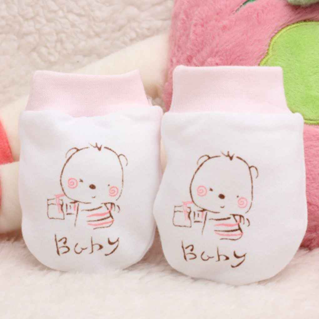 Aiming Baby Newborn Anti Scratch Mittens Breathable Gloves Unisex Warm Cotton Gloves