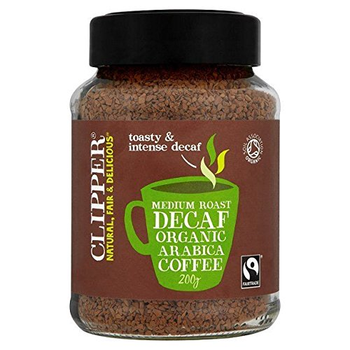 Clipper Fairtrade Instant Koffeinfreier Kaffee 200G
