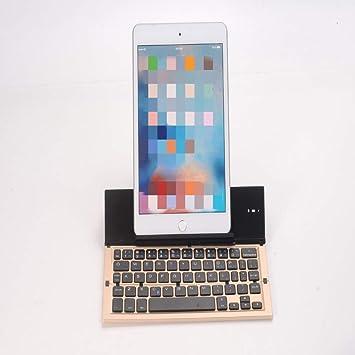 GeWu888 Teclado Teclado portátil Bluetooth Teclado de 58 ...