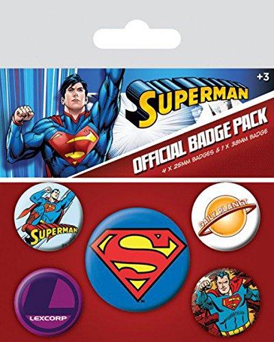 Paquete cm 1art1 Daily 1x 25 sorpresa mm de 38 x de 4 Superman Juego 15x10 mm insignias Planet 1 y de adhesivo cWOnUAB