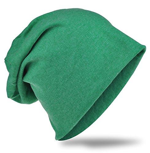 Unisex Trend gorros Gorro Beanie Color Verde Uni Slouch Estrella Hombre Jersey Long Estrella Mujer 4xXRw476