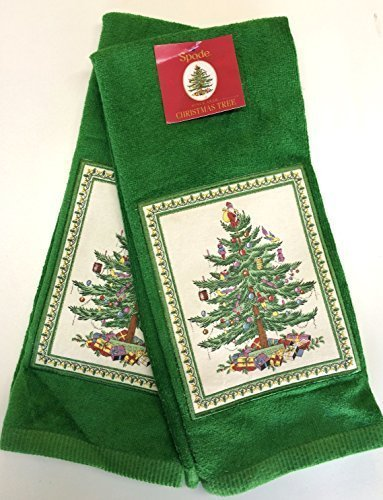 Spode Christmas Tree Kitchen Towel - Set of 2 (Green Tree)