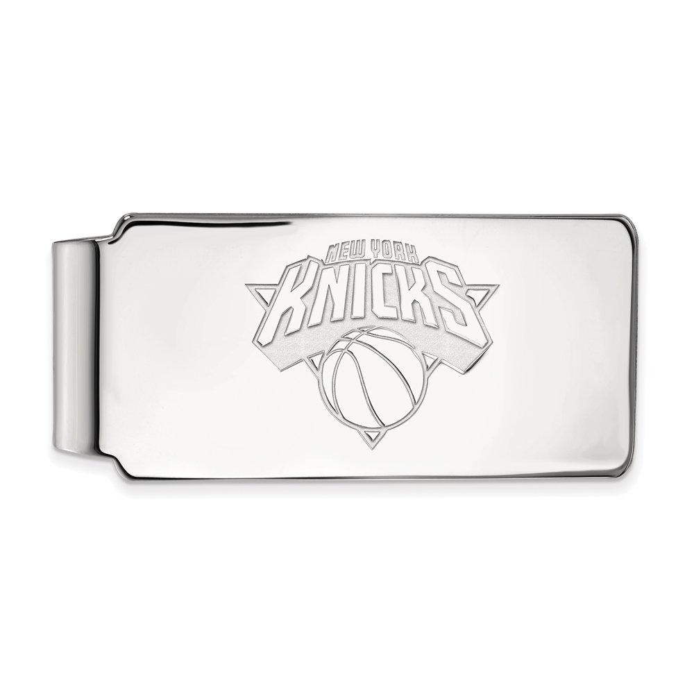 NBA New York Knicks Money Clip in Rhodium Plated Sterling Silver by LogoArt