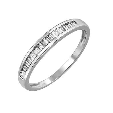 Amazon.com: IGI - Anillo de boda con diamante de oro de 14 ...