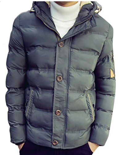 M&S&W Men's Puffer Jacket Heavyweight Quilted Hooded Outdoor Coat Army Green
