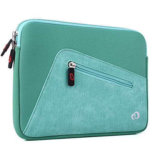 EnvyDeal KroO Apple iPad Pro 9.7, iPad Air, Air 2 Tablet Case ULTRA SLIM Universal Travel Sleeve, Clear Ocean [Green]