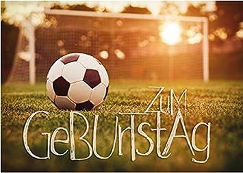 Gluckwunschkarte Zum Geburtstag Fussball Amazon De Burobedarf