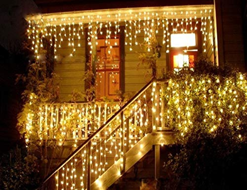 Ge Warm Led Icicle Lights in US - 9