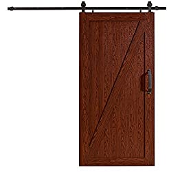 "Ltl Home Products Mlb4284czkd Millbrooke Pvc Barn Door Kit, 42"" X 84"", Cherry"