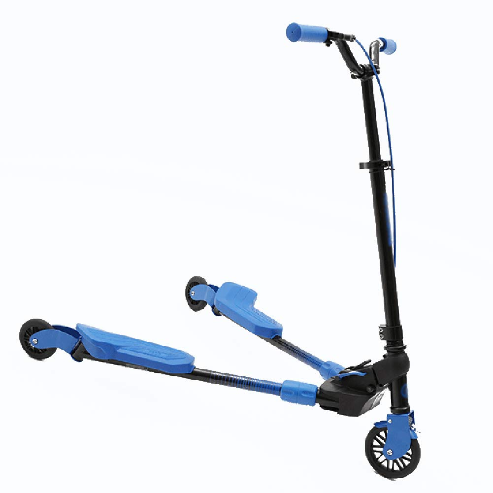 公式サイト キックスクーター三輪車スケートボードペダル式乗用スタントスクーター調節可能な折りたたみTバーハンドルLEDライトアップホイール付き B07H9MSLRQ 青 B07H9MSLRQ 青 青 青, カジュアルクロージング With:74a2a0ac --- a0267596.xsph.ru