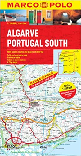Algarve Portugal South Marco Polo Map Amazoncouk Marco Polo - Portugal road map algarve