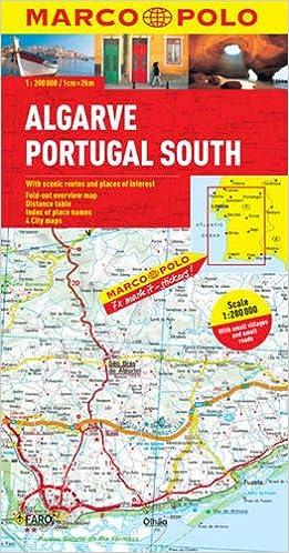 Algarve Portugal South Marco Polo Map Amazoncouk Marco Polo - Portugal map algarve region