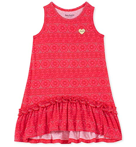 Juicy Couture Girls' Big Summer Dress, red Print 7 (Juicy Couture Print Dress)