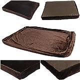 1Pcs Illustrious Popular Pet Bed Cover Size XL 48'' x 29'' Cat Pillow Soft Cushion Color Type Coffee PV Fleece